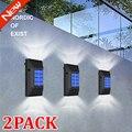 Новейшая модель; 2 шт. в упаковке 6LED Солнечный настенный светильник солнечный светильник уличный IP65 Водонепроницаемый солнечные лампы открытый светильник Инж