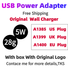 With packaging 100 pcs/Lot,1:1 quality A1400 EU/UK/US/AU Plug USB AC Power Wall Charger Adapter  For i 6s 7 8 x Plus