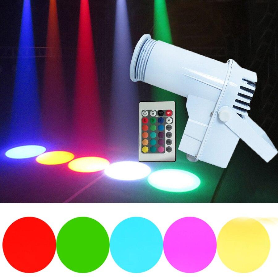 Thrisdar Remote 10W RGB LED Pinspot Light Wash Narrow Beam Pinspot Lighting Dance Floor Celebration Party KTV Stage Light