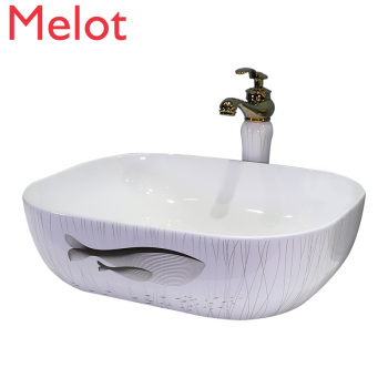 Nordic Ceramic Basin Wash Toilet Single