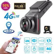 4g wifi carro dvr câmera k18 lente dupla completa hd 1080p 2.0