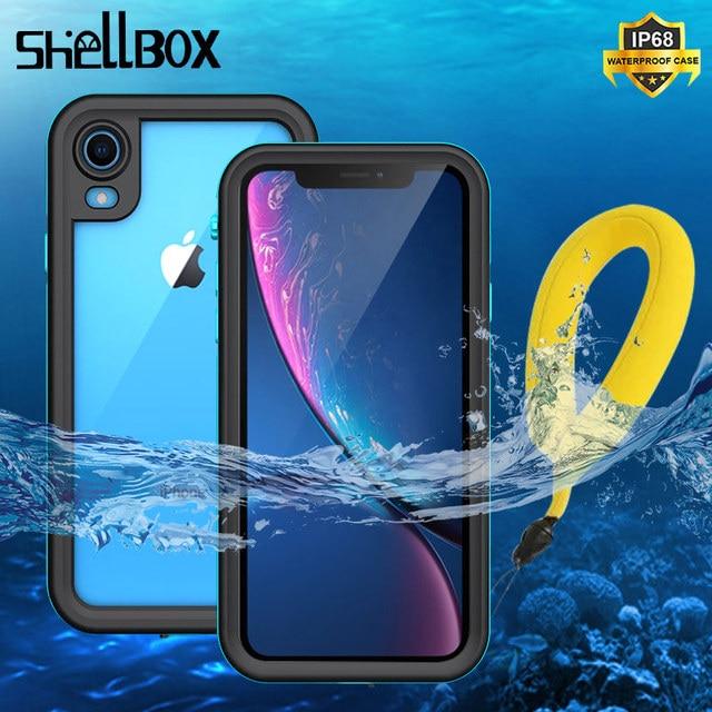 SHELLBOX funda impermeable IP68 para iPhone, funda a prueba de golpes para iPhone 11 Pro Max X XS MAX Clear 360, XR 8 7 Plus