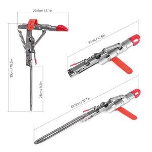 Image 3 - New Full Stainless Steel Automatic Spring Fishing Rods Holders, Adjustable Sensitivity Folding Fishing Bite Bracket
