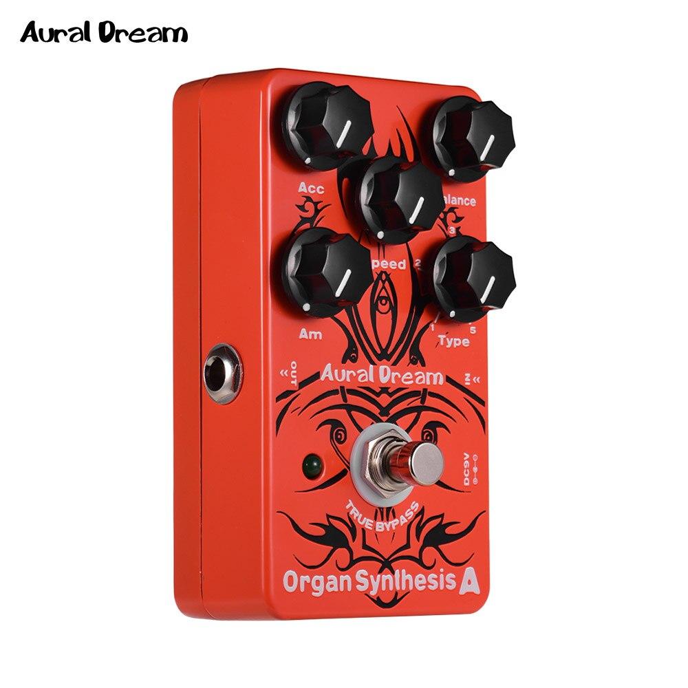 Synthèse d'orgue de rêve Aural une pédale d'effets de guitare électrique avec Rock Blues Reggae Rockband orgue véritable dérivation effets simples