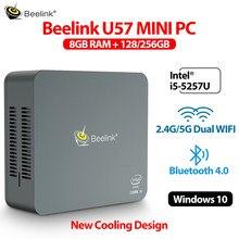 системный блок компьютер игровой компьютер Beelink U57 8 Гб 256 ГБ Мини ПК геймер Intel Core i5-5257U Dual WIFI bluetooth 4,0 1000 м LAN USB3.0 компьютерная поддержка Windows 10