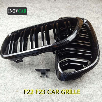 New Carbon Look Car Kidney Grille For 2 Series F22 F23 ABS Gloss Black/ M Color grille Replacement Front Bumper Grill 2014-2016