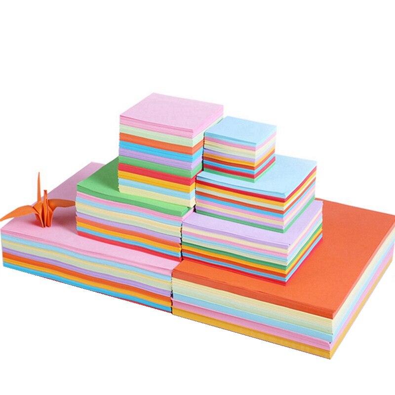 Color Paper Thousand Paper Cranes Manual Paper Cutting Materials Parent Child Activities Square Origami Craft