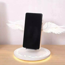 QI Wireless Charger Holder Fast Charging Dock Compatible for iPhone Huawei JA55
