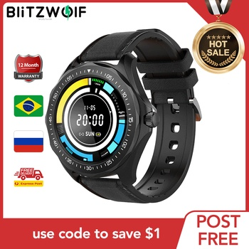 BlitzWolf Official Store BW-HL3 Smart Watch Heart Rate Blood Pressure Monitor Fitness Track Sport 2020 Smartwatch For Men Women 1