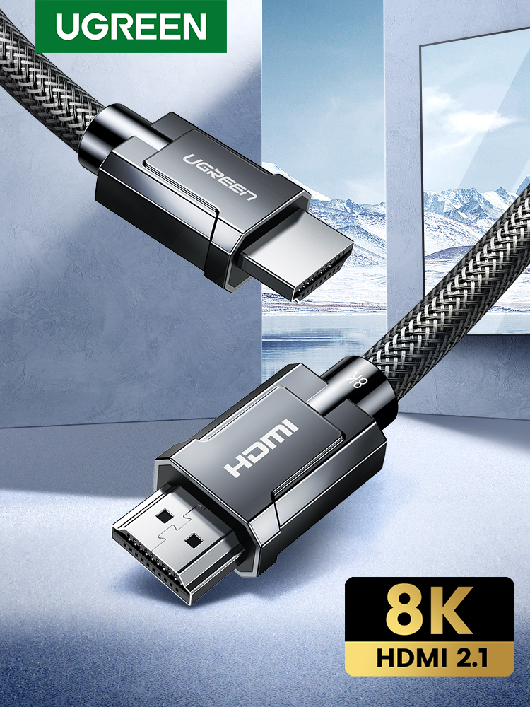 Ugreen 48gbps Cable-Cord Splitter Switch Video-Cable Audio PS4 Hdmi-2.1 4k/120hz HDCP2.2