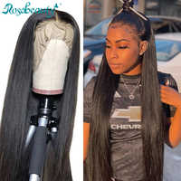 Rosabeauty 250 density 26 28 30 Inch Brazilian Straight Lace Front Human Hair Wigs 360 Frontal Wig pre plucked with baby Hair