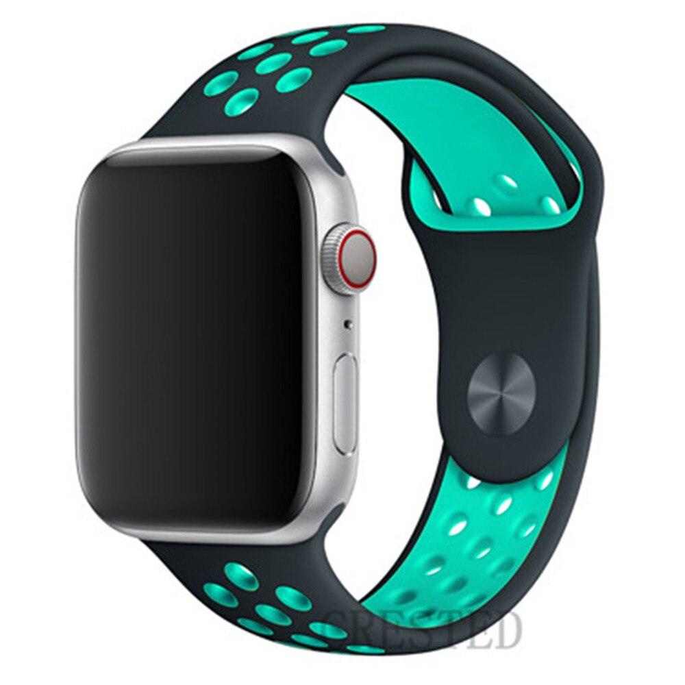 Спортивный ремешок для apple watch band 44 мм/40 мм apple watch 5 4 3 band iwatch band 5 42 мм/38 мм correa браслет ремень аксессуары для часов - Цвет ремешка: NEW gray blue