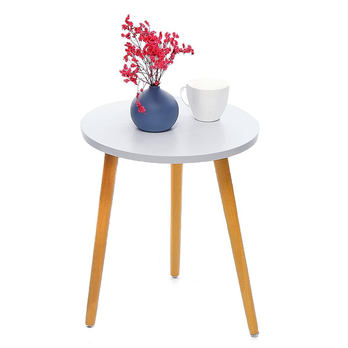 Mesa de centro de madera moderna sofá cómodo nórdico mesa auxiliar de té Natural práctica decoración de sala de estar 35x42 cm