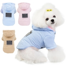 Pet Winter Autumn Clothes Warm Hoodie Jacket Thickening 2-legged Hooded Cotton-padded Chihuahua Coat For Small And Medium Dogs