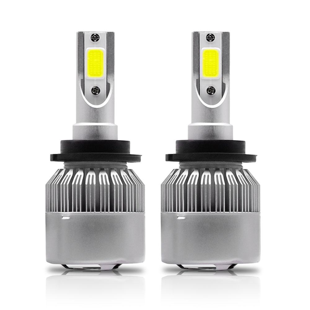 2Pcs/lot D2S D2C D2R D4S D4C D4R LED Headlights Bulbs Conversion Kit Lights 110W 11000LM H8/H9/H11 Auto COB Car 6000K