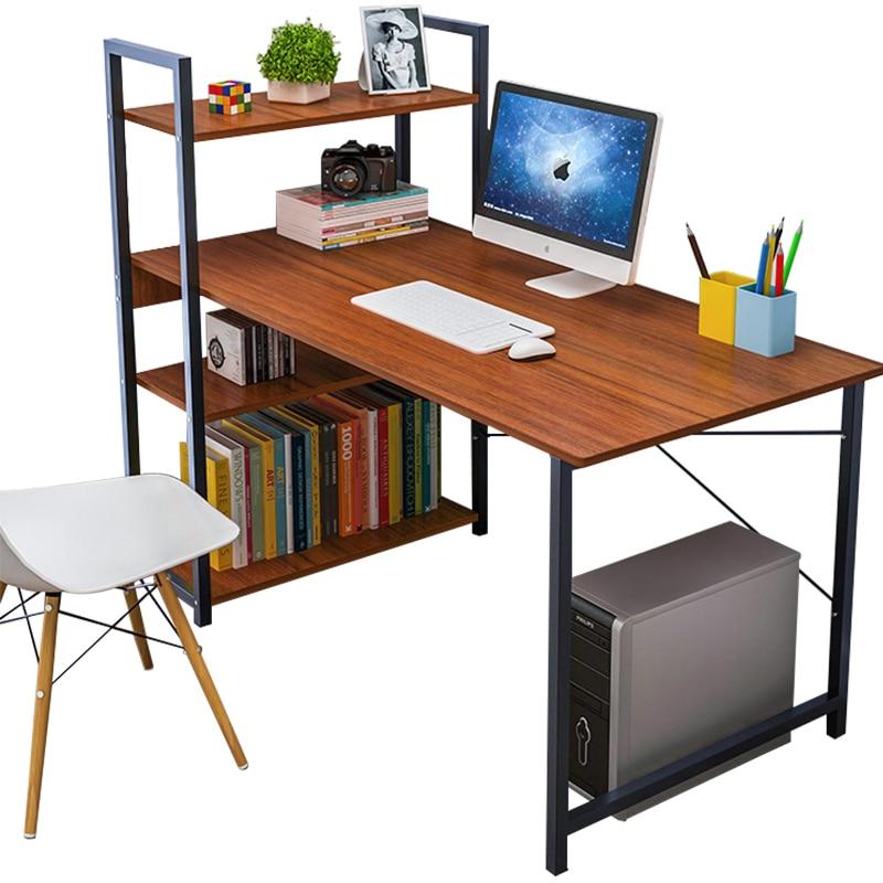 Computer Desk Desk Home Simple Desk Bookshelf Combination Simple Modern Student Writing Corner Table