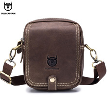Crossbody-Bag BULLCAPTAIN Small Mini Male Men's Casual Multi-Function First-Layer