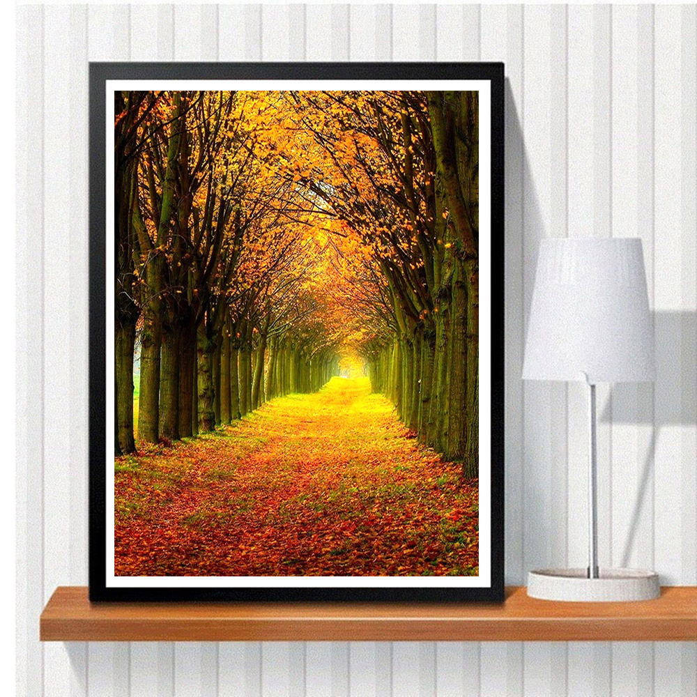 HUACAN Full Square Diamond Painting Landscape Diamond Art Embroidery Forest Scenery Home Decor