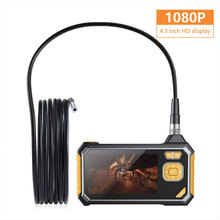 Endoscope Ear Spoon Borescope 8mm ABS Photos Microscope Real-Time Video 4.3 Inch 1080p Waterproof Inspection Monitoring купить дешево онлайн