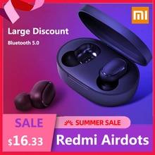 Original Xiaomi Redmi Airdots  Xiaomi Wireless earphone Voice control Bluetooth 5.0 Noise reduction Tap Control in stock