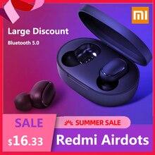 Xiaomi auriculares Redmi Airdots con Bluetooth 5,0, auriculares inalámbricos con control de voz y pulsación y reducción de ruido