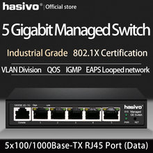 5 Port 10/100/1000Mbps PoE Ethernet Switch Managed  IGMP VLAN Management