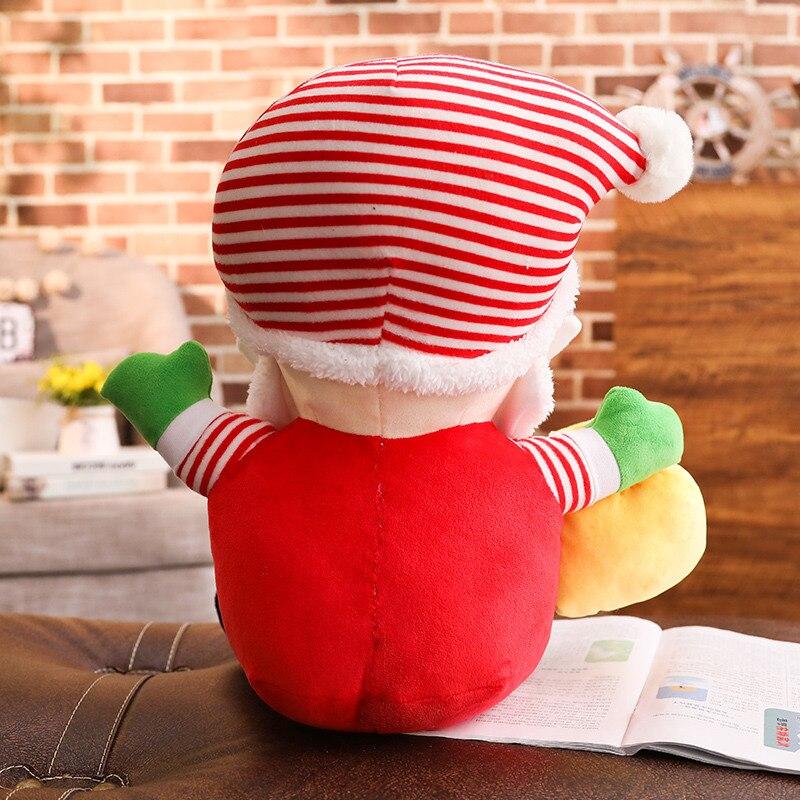 Dessin animé Mignon Créatif Rouge Rayures Poupée Père Noël Oreiller Jouets En Peluche Grande Taille Enfants Décoration Cadeau femme
