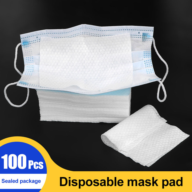 Disposable Facial Mask Filter Face Mask Filter Breathing Safety Replacement Cotton Pad Anti-Dust Anti Influenza 4
