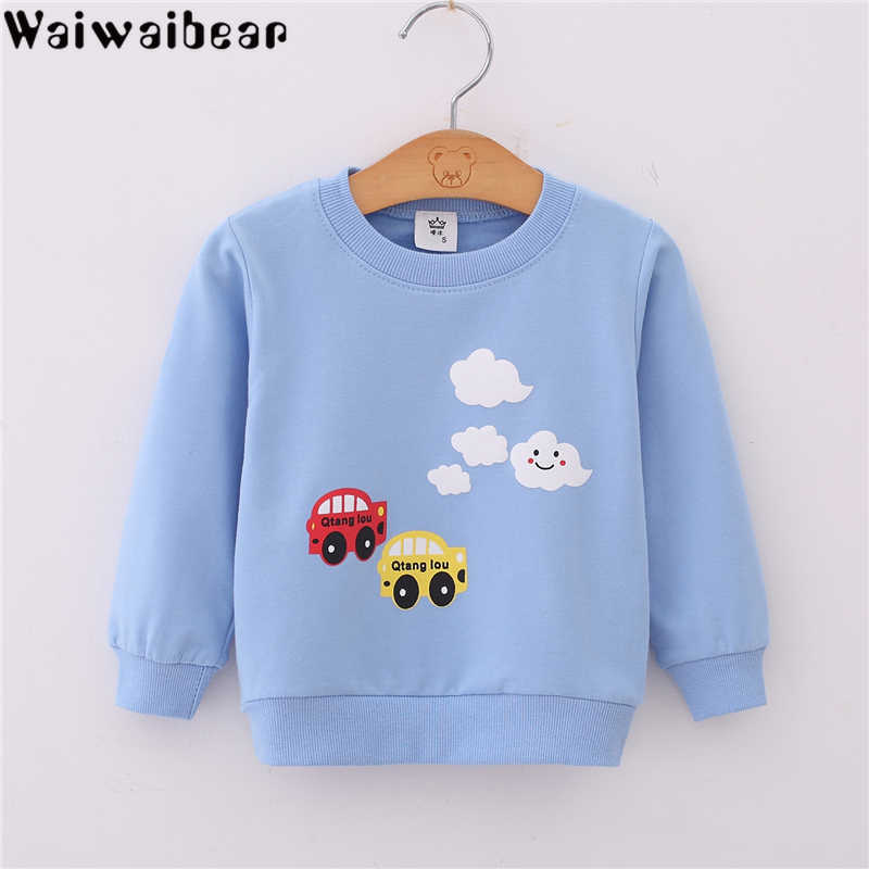 Baby Spring Autumn Children Hoodies Boys Girls Sweatshirts Cartoon Long Sleeves Sweater Kids T-shirt Sportswear Pullover Clothes