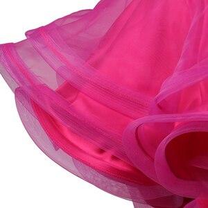 Image 4 - Robe de compétition de danse latine pour adultes/enfant, Costume de danse latine pour femmes/filles, vêtement de scène Sexy, jupe diamant, Samba/Salsa, DQL2943