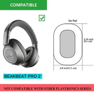Image 3 - Earpads For Plantronics Backbeat Pro 2 Wireless Noise Cancelling Headphone Replacement Ear Pads Soft Leather Memory Foam Brown