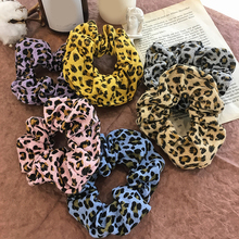2019 New Leopard Print Elastic Hair Bands Velvet Women Accessories Ladies Ties Scrunchies Girls Ponytail Holder