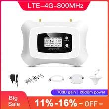 スマート 4 4g携帯電話の信号アンプlte 800 モバイル信号ブースターband20 4 グラム信号リピータ液晶を搭載したディスプレイ