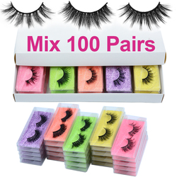 Wholesale Natural 3D Mink Strip EyeLashes Makeup False Eyelashes For Daily Wear Reusable Fluffy Fake Lashes in Bulk