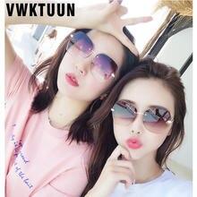 Женские винтажные солнцезащитные очки vwktuun без оправы с прозрачной