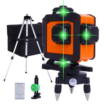 16 Lines 4D Green Laser Levels 360 Horizontal Vertical Cross Wall And Floor Laser Level High-Precision Automatic Infrared Level недорого