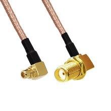 Tuerca hembra Cable Coaxial RF SMA, mampara a macho, ángulo recto, RA, Cable en espiral RG316