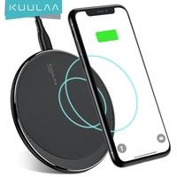 KUULAA-cargador inalámbrico Qi para móvil, Cargador USB rápido de 10W, para iPhone 11 Pro, 8 X, XR, XS, Max, Samsung S10, S9, S8