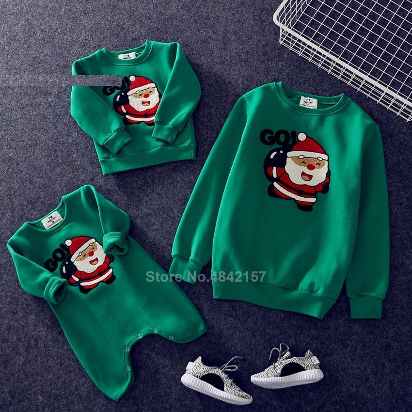 Новинка года; Рождественские свитера для всей семьи; 19 цветов; рождественские худи; пижамы; теплый свитер с вышивкой Санта-Клауса и лося; подарок для взрослых и детей - Цвет: Color10