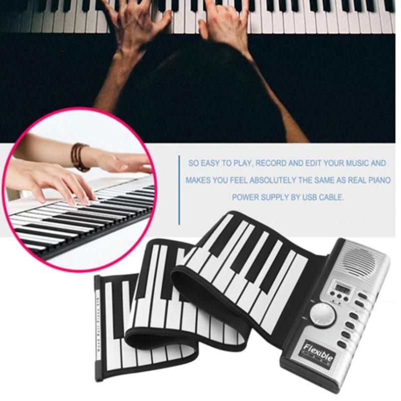 Portable 61 touches retroussable Piano USB MIDI clavier MIDI Conctroller main électronique Piano