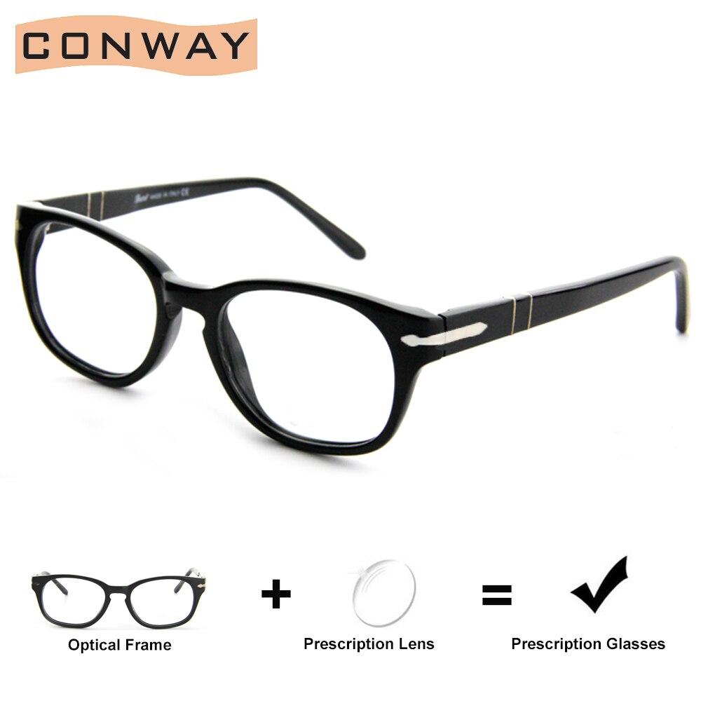 CONWAY Brand Design Customized Prescription Glasses Myopia Astigmatism OptIc Glasses Single Vision Progressive Acetate Frame