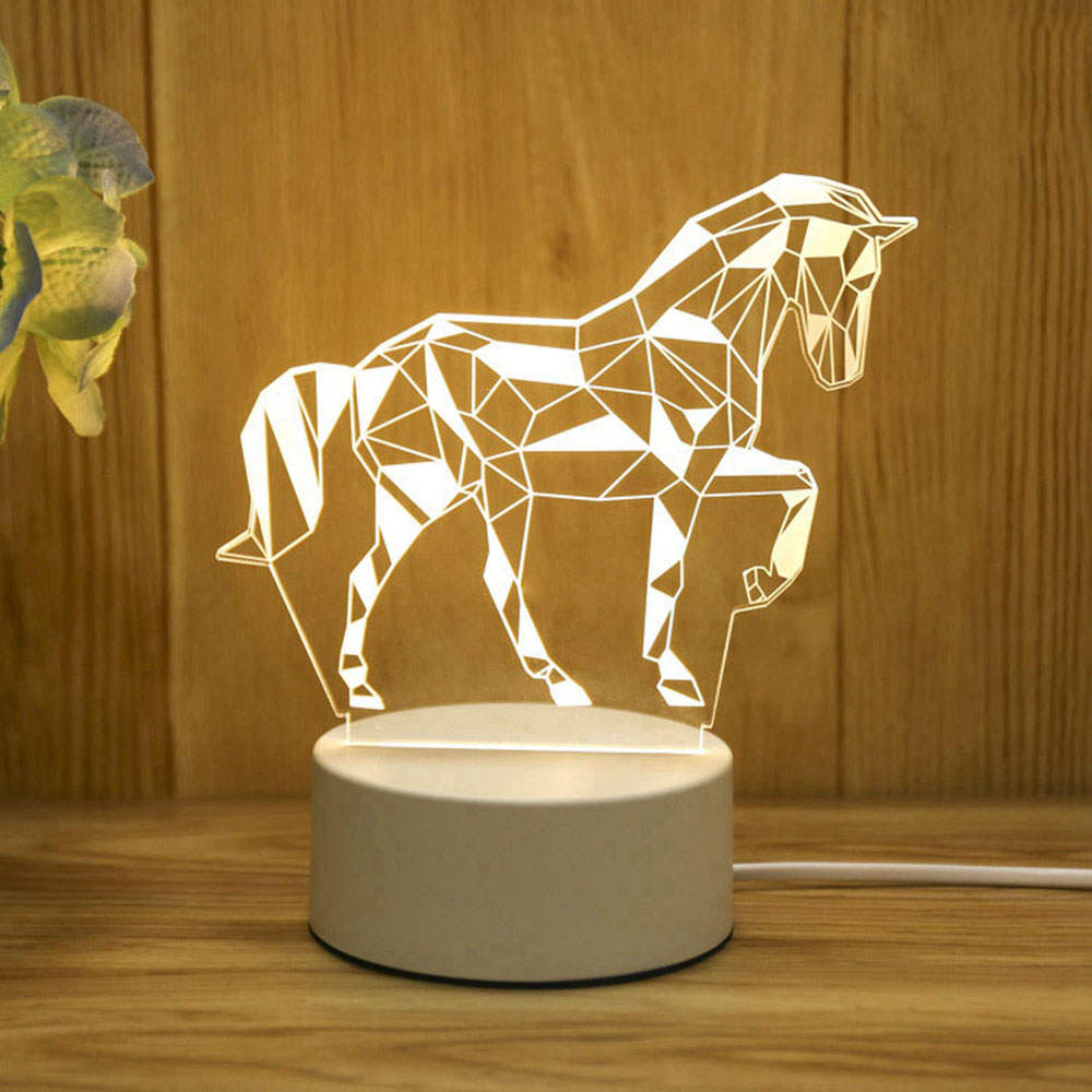 3D LED Lamp Creative 3D LED Night Lights Novelty Illusion Night Lamp 3D Illusion Table Lamp For Home Decorative Light