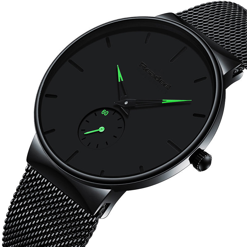 Reloj Hombre 2019 READEEL Top Brand Luxury Men Watches Waterproof Ultra Thin Wrist Watch Man Mesh Strap Casual Quartz Clock Male
