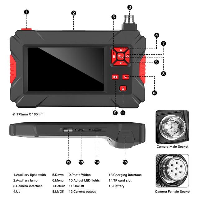 Купить 20mp промышленный эндоскоп 43 в hd дисплей бороскоп камера водонепроницаемый картинки цена