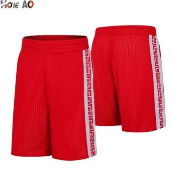 HOWE AO nowi mężczyźni letnie szorty do koszykówki męskie ubrania sportowe dwustronne szorty do biegania oddychający strój treningowy szorty w dużych rozmiarach tanie i dobre opinie Włókno bambusowe Koszykówka Pasuje prawda na wymiar weź swój normalny rozmiar WD8101