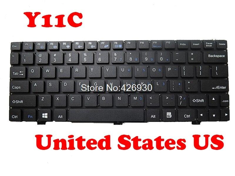 Laptop Keyboard For Haier Y11C Y11B DOK-V6361A PRIDE-K2651 MB3002012 JM254-6 K693 YJ-627 V1384ABAS2 Black United States US