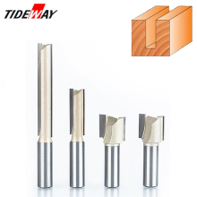 Tideway 1pcs 1/4 Shank 2 Flute Straight Bit Woodworking Tools Router Bit For Wood Tungsten Carbide Endmill Milling Cutter