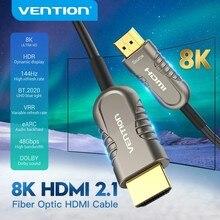 Cabo ótico 10m 15m 20m do projetor ps4 da caixa da tevê de hd cabo 4k/60hz 8k 48gbps da fibra ótica de hdmi de vention hdmi 2.1 para o projetor ps4 da caixa da tevê