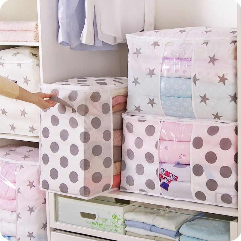 의류 퀼트 보관 가방 담요 옷장 스웨터 주최자 상자 정렬 파우치 의류 캐비닛 컨테이너 여행 홈 Dropship