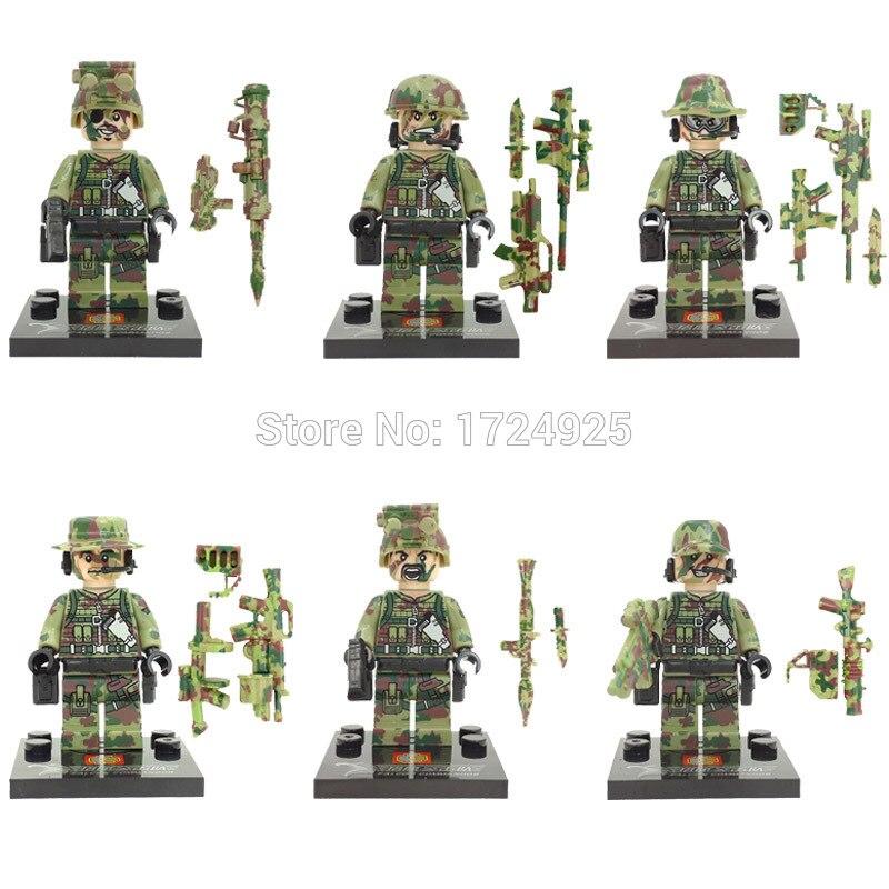 Image 2 - Wholesale 60pcs/lot SWAT Figure Military Set Building Blocks Sets Model Bricks Educational Toys Children No Original Box SY11101-in Blocks from Toys & Hobbies